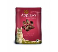 Applaws Пауч для Кошек с Тунцом и королевскими креветками (Cat Tuna & Pacifc Prawn pouch). Вес: 70 г