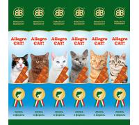 B&B Аллегро Кэт Колбаски для кошек Лосось/Форель 6 шт
