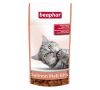 Beaphar (Беафар) Подушечки Malt Bits Salmon для выведения шерсти из желудка со вкусом лосося. Вес: 35 г