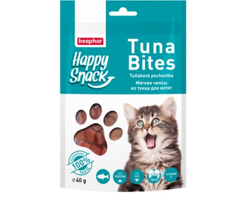 Beaphar Лакомство для котят Mягкие чипсы из тунца Happy Snack (Беафар). Вес: 40 г