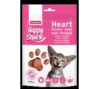 Beaphar Лакомство для кошек Hежные сердечки из курицы и трески Happy Snack (Беафар). Вес: 40 г