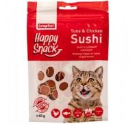 Beaphar Лакомство для кошек Hежные суши из тунца и цыпленка Happy Snack (Беафар). Вес: 40 г