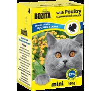Bozita super premium Mini Кусочки в желе для кошек - домашняя птица (Poultry). Вес: 190 г