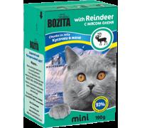 Bozita super premium Mini Кусочки в желе для кошек - олень (Reindeer). Вес: 190 г