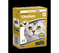 Bozita super premium Кусочки в ЖЕЛЕ для кошек с рубленной курицей (Minced Chicken). Вес: 370 г