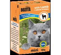 Bozita super premium Mini Кусочки в желе для кошек - ягненок (Lamb). Вес: 190 г
