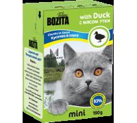 Bozita super premium Mini Кусочки в соусе для кошек - утка (Duck). Вес: 190 г