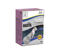 Bozita super premium Кусочки в желе для кожи и шерсти кошек с лососем (Sensitive Hair&Skin). Вес: 190 г