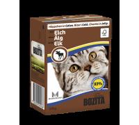 Bozita super premium Кусочки в ЖЕЛЕ для кошек c лосем (with Elk). Вес: 370 г