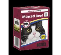Bozita super premium Кусочки в желе для кошек c рубленой говядиной (with Minced Beef) 370 гр.