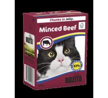 Bozita super premium Кусочки в желе для кошек c рубленой говядиной (with Minced Beef). Вес: 370 г