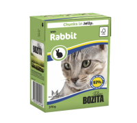 Bozita super premium Кусочки в ЖЕЛЕ для кошек с кроликом (Rabbit). Вес: 370 г
