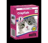 Bozita super premium Кусочки в желе для кошек с лангустом (with Crayfish). Вес: 370 г