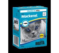 Bozita super premium Кусочки в желе для кошек со скумбрией (with Mackerel). Вес: 370 г