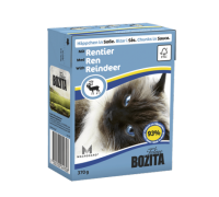 Bozita super premium Кусочки в СОУСЕ для кошек с оленем (Reindeer). Вес: 370 г
