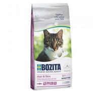 Bozita super premium Сухой беззерновой корм для взрослых и растущих кошек для здоровой кожи и шерсти с лососем, без пшеницы (Hair & Skin Wheat Free Salmon 30/15). Вес: 400 г