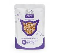 Brit Care Cat Pouches Chicken & Cheese Kitten Пауч для кошек и котят Курица и сыр 80 г