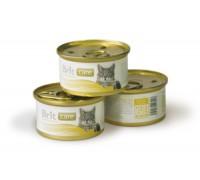 Brit Care Chicken Breast & Cheese консервы для кошек Куриная грудка с сыром. Вес: 80 г