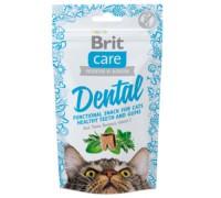 Brit Care лакомство для кошек Dental для очистки зубов (Брит). Вес: 50 г