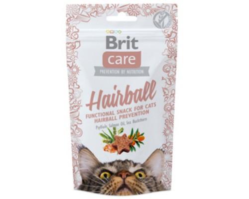Brit Care лакомство для кошек Hairball для вывода комков шерсти. Вес: 50 г
