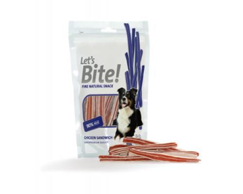 Brit Chicken Sandwich Лакомство для собак Куриные кусочки с жирными кислотами. Вес: 80 г