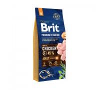 Brit Premium by Nature Adult M для взрослых собак средних пород. Вес: 3 кг