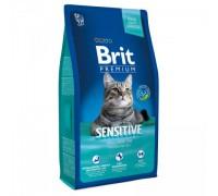 Brit Premium Cat Sensitive для кошек с чувствительным пищеварением Ягненок. Вес: 800 г