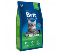 Brit Premium Cat Sterilized для кастрированных котов с Курицей и печенью. Вес: 300 г