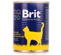Brit консервы для кошек Мясное ассорти с потрошками. Вес: 340 г