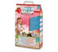 Cat's Best Universal Strawberry Древесный впитывающий ароматизированный наполнитель (клубника). Вес: 10 л