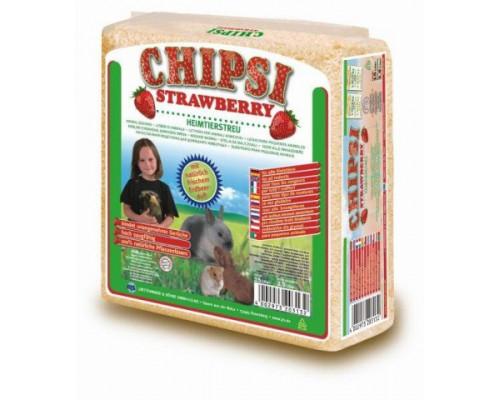 Chipsi Strawberry для грызунов Древесный ароматизированный наполнитель (клубника). Вес: 1 кг