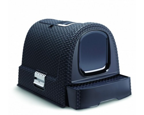 Curver PetLife Туалет-домик для кошек, темно-серый, 51x39x40 см