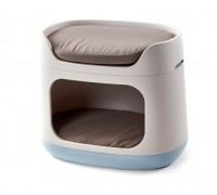 Curver PetLife Домик-трансформер 3 в 1 (домик, лежак, переноска) 60х40,5х51 см
