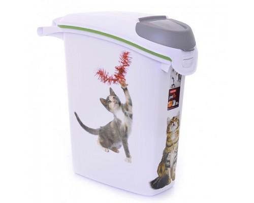 """Curver PetLife Контейнер для корма """"Кошачьи Цап-царапки"""" на 10кг/23л, 23x50x50 см"""