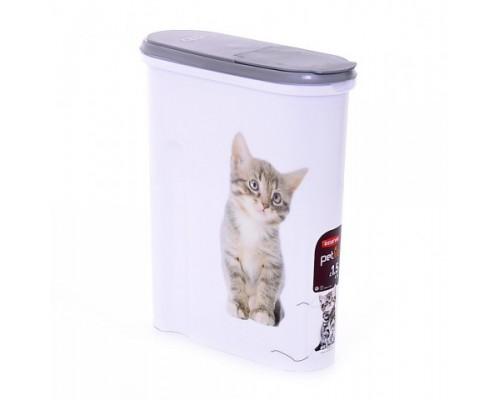 "Curver PetLife Контейнер для корма ""Кошка"" на 1,5кг/4,5л, 25x10x30 см"