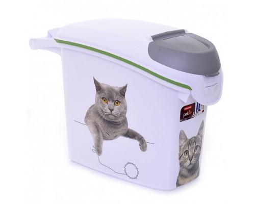 "Curver PetLife Контейнер для корма ""Сладкие котята""на 6кг/15л, 23x50x36 см"
