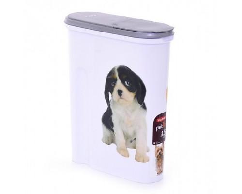 """Curver PetLife Контейнер для корма """"Собака"""" на 1,5кг/4,5л, 25x10x30 см"""