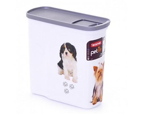 """Curver PetLife Контейнер для корма """"Собачье счастье"""" малый на 2 л, 20x9x19 см"""