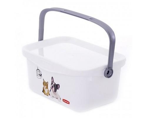 """Curver PetLife Мультифункциональный контейнер """"Домашние любимцы"""" малый, на 3л, 26x18x11 см"""