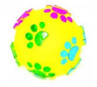 """DEZZIE Игрушка для собак мяч """"Большие лапы"""" 7,5см, винил"""