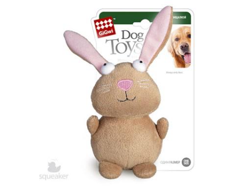 GiGwi Игрушка для собак Кролик с пищалкой