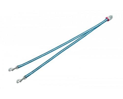FLEXI Ремень-сворка для двух маленьких собак, голубая (Vario Duo Belt S blue) (Флекси)