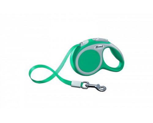 FLEXI Рулетка-ремень для собак до 12кг, 3м, бирюзовая (Vario XS tape 3m turquoise) (Флекси)