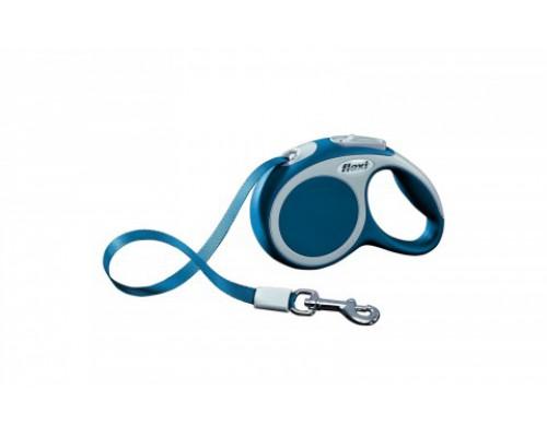 FLEXI Рулетка-ремень для собак до 12кг, 3м, голубая (Vario XS tape 3m blue) (Флекси)
