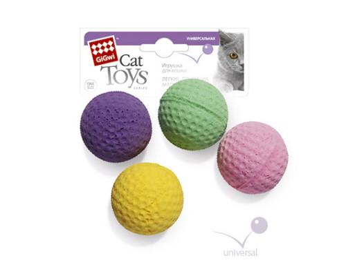 GiGwi Игрушка для кошек 4 мячика в упаковке