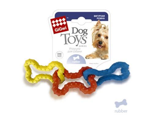 GiGwi Игрушка для собак 3 резиновых косточки