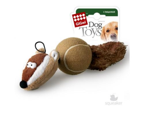 GiGwi Игрушка для собак Барсук с 2-мя пищалками