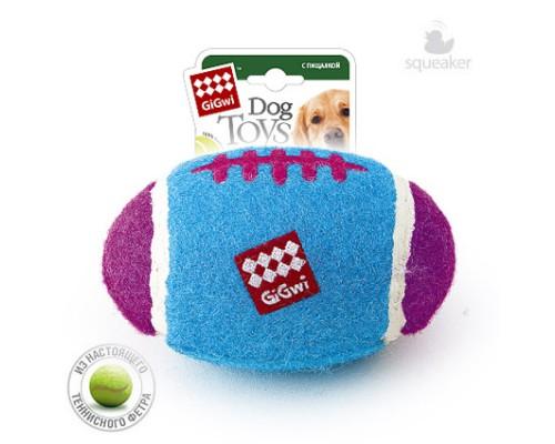 GiGwi Игрушка для собак Большой регби - мяч с пищалкой 26 см