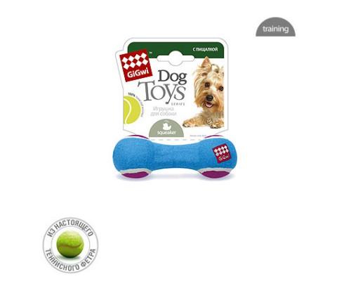 GiGwi Игрушка для собак Гантель с пищалкой Малая
