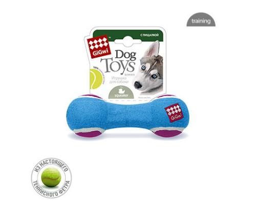GiGwi Игрушка для собак Гантель с пищалкой Средняя